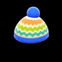 Cappellino colorato di lana (Blu)