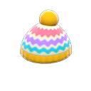 Cappellino colorato di lana (Giallo)