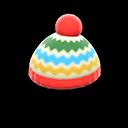 Cappellino colorato di lana (Rosso)