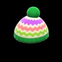 Cappellino colorato di lana (Verde)