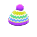 Cappellino colorato di lana (Viola)