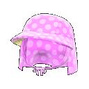 Cappello con veletta (Rosa)