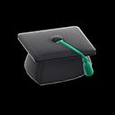 Cappello da laurea (Verde)