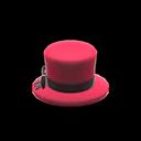 Cappello di seta piccolo (Rosso)