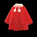 Cappotto poncho (Rosso)