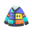 Cardigan multicolore (Blu)