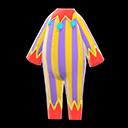 Costume da giullare (Viola e giallo)