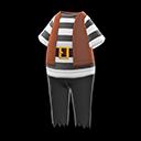 Costume da mozzo pirata (Nero)