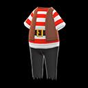 Costume da mozzo pirata (Rosso)