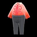 Costume da pattinaggio (Rosso)