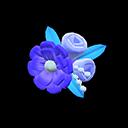 Fermaglio floreale (Blu)