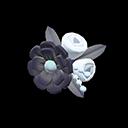 Fermaglio floreale (Nero)