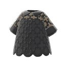 Maglia merlettata (Nero)