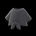 Maglietta legata davanti (Nero)