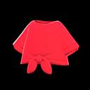 Maglietta legata davanti (Rosso)