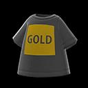Maglietta logo GOLD (Nero)