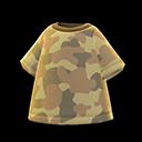 Maglietta mimetica (Marrone)