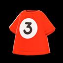 Maglietta palla 3 (Rosso)