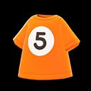 Maglietta palla 5 (Arancio)