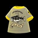 Maglietta pesce stampato (Avocado)