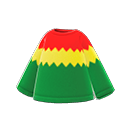 Maglietta zigzag (Rosso, verde e oro)