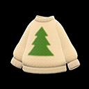 Maglione albero (Beige)
