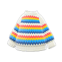 Maglione arcobaleno (Bianco)