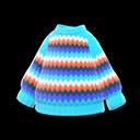 Maglione arcobaleno (Blu chiaro)