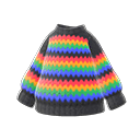 Maglione arcobaleno (Nero)