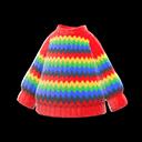Maglione arcobaleno (Rosso)