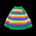 Maglione arcobaleno (Verde)