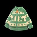 Maglione con renne (Verde)