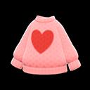 Maglione cuore (Rosa)