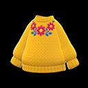 Maglione fiorito (Giallo)