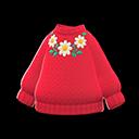 Maglione fiorito (Rosso)