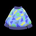 Maglione variopinto (Blu)
