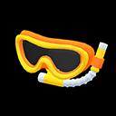 Maschera con boccaglio (Arancio)