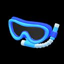 Maschera con boccaglio (Blu)