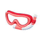 Maschera con boccaglio (Rosso)