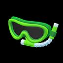 Maschera con boccaglio (Verde)