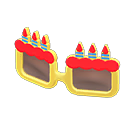Montatura da compleanno (Giallo)