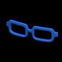 Montatura squadrata (Blu)