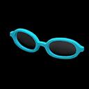 Montatura tondeggiante (Blu)