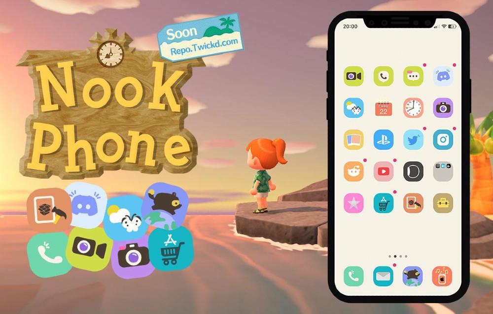 Un fan di Animal Crossing: New Horizons ha realizzato un modello del Nook Phone per iOS 14!