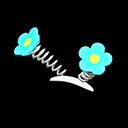 Paio antenne fiori (Blu)