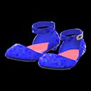 Paio ballerine con cinturino (Blu)