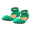 Paio ballerine con cinturino (Verde)