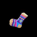 Paio calzini stile geometrico (Beige)