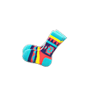 Paio calzini stile geometrico (Blu pavone)