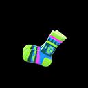 Paio calzini stile geometrico (Verde)
